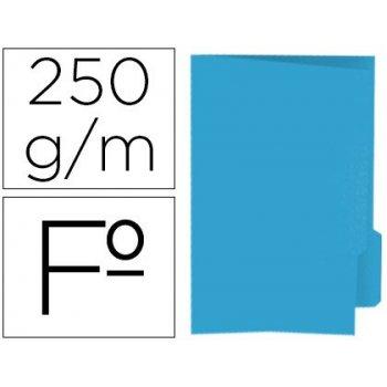 Subcarpeta cartulina gio folio pestaña derecha 250 g m2 azul
