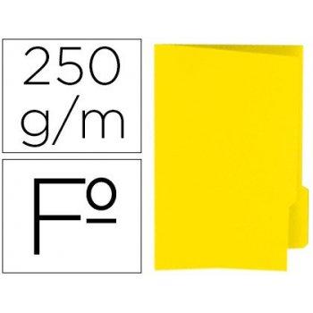 Subcarpeta cartulina gio folio pestaña derecha 250 g m2 amarillo