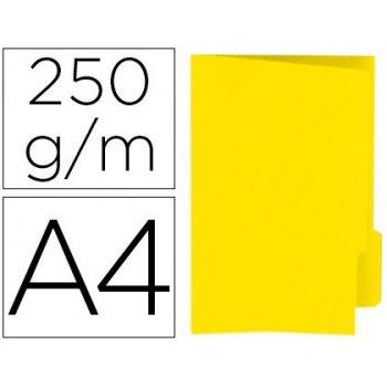 Subcarpeta cartulina gio din a4 pestaña derecha 250 g m2 amarillo