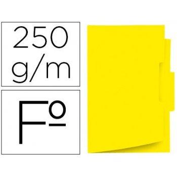 Subcarpeta cartulina gio folio pestaña central 250 g m2 amarillo