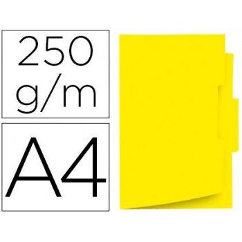 Subcarpeta cartulina gio din a4 pestaña central 250 g m2 amarillo