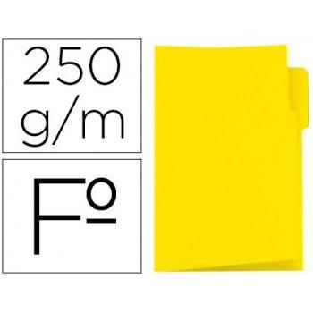 Subcarpeta cartulina gio folio pestaña izquierda 250 g m2 amarillo