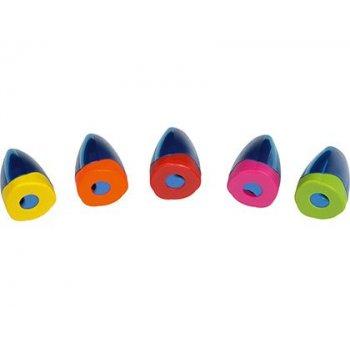 Sacapuntas m+r plastico jumbo un uso con deposito y tapa de segurdad colores surtidos