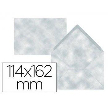 Sobre liderpapel c6 azul pergamino 114x162 mm 80 g m pack de 15 unidades
