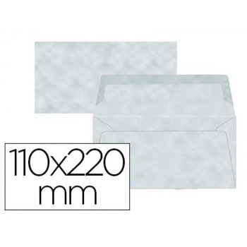 Sobre liderpapel americano azul pergamino 110x220 mm 80 g m pack de 9 unidades