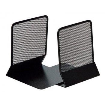 Apoyalibros metalico q-connect kf15098 negro -juego -135x152x165 mm