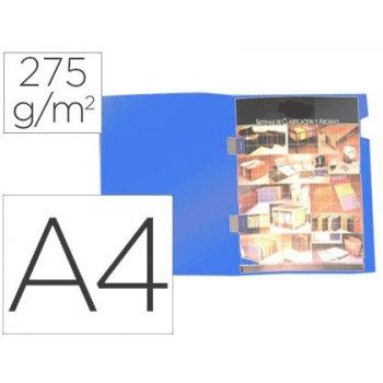 Subcarpeta plastificada gio din a4 azul con cubre grapas 275 g m