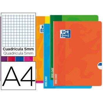 Libreta escolar oxford openflex tapa flexible optik paper 48 hojas din a4 cuadro 5 mm colores surtidos