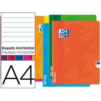 Libreta escolar oxford openflex tapa flexible optik paper 48 hojas din a4 rayado horizontal colores surtidos