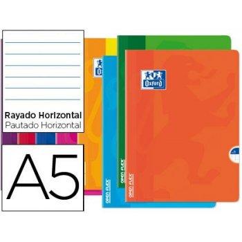 Libreta escolar oxford openflex tapa flexible optik paper 48 hojas din a5 rayado horizontal colores surtidos