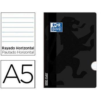Libreta escolar oxford openflex tapa flexible optik paper 48 hojas din a5 rayado horizontal color negro