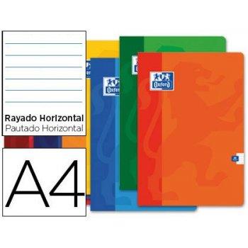 Libreta escolar oxford 48 h din a4 rayado horizontal colores surtidos