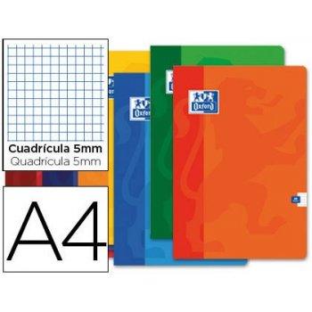 Libreta escolar oxford 48 h din a4 cuadro 5 mm colores surtidos