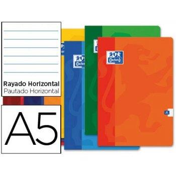 Libreta escolar oxford 48 h din a5 rayado horizontal colores surtidos