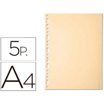 Separador exacompta cartulina juego de 5 separadores din a4 multitalador color crema