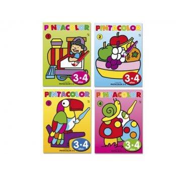 Cuaderno para colorear pinta color para niños de 3-4 años 16 paginas 280x210 mm