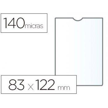 Funda portadocumento esselte plastico transparente 140 micras tamaño 83x122 mm