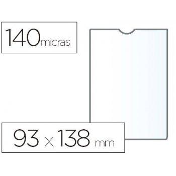 Funda portadocumento esselte plastico transparente q40 micras tamaño 93x138 mm