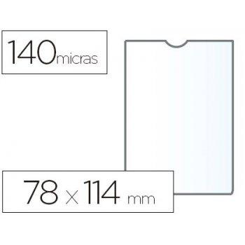 Funda portadocumento esselte plastico transparente 140 micras tamaño 78x114 mm