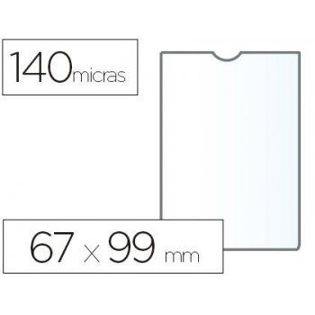 Funda portadocumento esselte plastico transparente 140 micras tamaño 67x99 mm