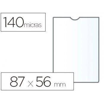 Funda portadocumento esselte plastico transparente 140 micras tamaño 87x56 mm