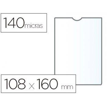 Funda portadocumento esselte plastico transparente 140 micras tamaño 108x160 mm