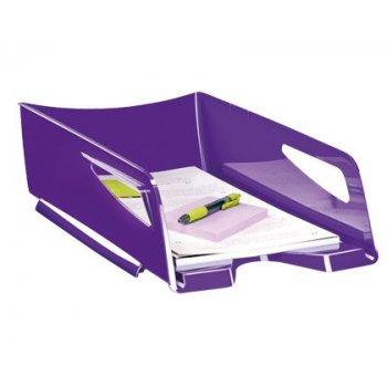 Bandeja sobremesa cep maxi de gran capacidad plastico violeta 386x270x115 mm