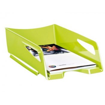 Bandeja sobremesa cep maxi de gran capacidad plastico verde 386x270x115 mm