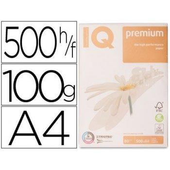 Papel fotocopiadora iq premium din a4 100 gramos paquete de 500 hojas