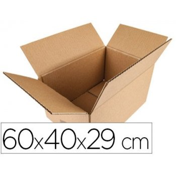 Caja para embalar q-connect americana medidas 600x400x290 mm espesor carton 5 mm