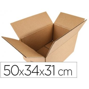 Caja para embalar q-connect americana medidas 500x340x310 mm espesor carton 5 mm