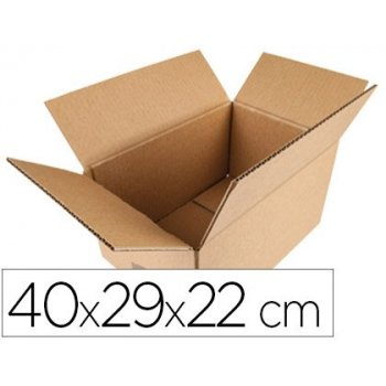 Caja para embalar q-connect americana medidas 400x290x220 mm espesor carton 5 mm