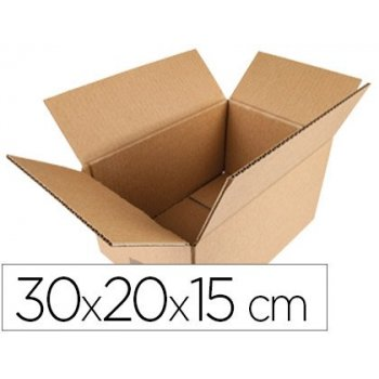 Caja para embalar q-connect americana medidas 300x200x150 mm espesor carton 5 mm