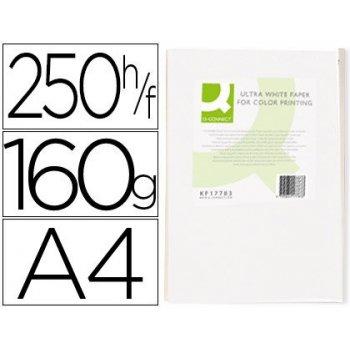 Papel fotocopiadora q-connect ultra white din a4 160 gramos paquete de 250 hojas
