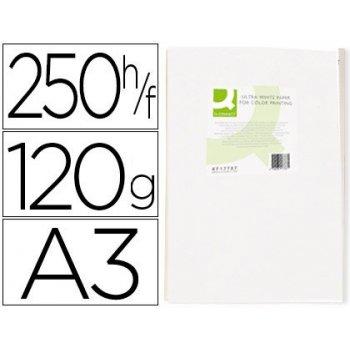 Papel fotocopiadora q-connect ultra white din a3 120 gramos paquete de 250 hojas