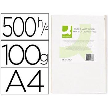 Papel fotocopiadora q-connect ultra white din a4 100 gramos paquete de 500 hojas