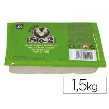 Arcilla sio-2 blanca paquete de 1.5 kg