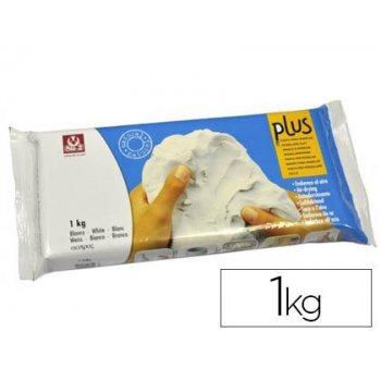 Arcilla sio-2 plus que endurece al aire blanco paquete de 1 kg