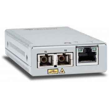 Allied Telesis AT-MMC2000 SC-60 convertidor de medio 1000 Mbit s 850 nm Multimodo Plata