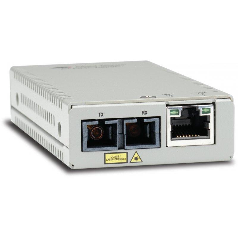Allied Telesis AT-MMC200 SC-60 convertidor de medio 100 Mbit s 1310 nm Multimodo Plata