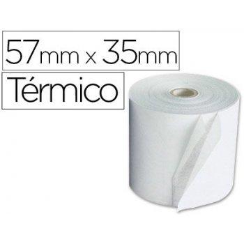 Rollo sumadora q-connect termico 57 mm ancho x 35mm diametro para maquinas terminal punto de venta