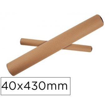 Tubo de carton q-connect portadocumentos tapa plastico 40x430 mm