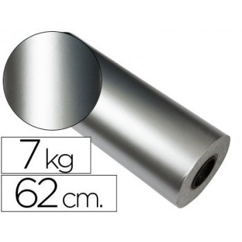 Papel fantasia verjurado star 7091 plata bobina 62 cm 7 kg