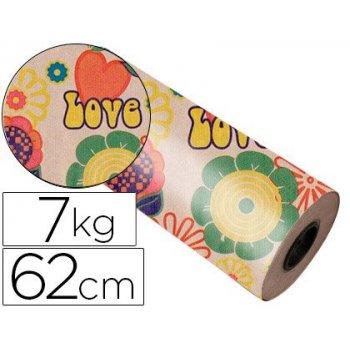 Papel fanstasia kraft 4341 havana todo el año bobina 62 cm 7 kg