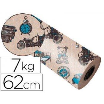 Papel fanstasia kraft 4337 havana todo el año bobina 62 cm 7 kg