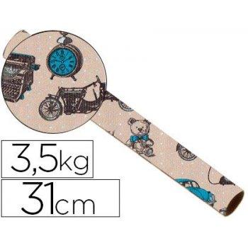 Papel fanstasia kraft 4337 havana todo el año bobina 31 cm 3,5 kg