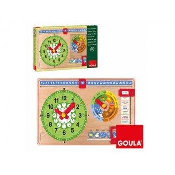 Juego goula didactico reloj calendario castellano