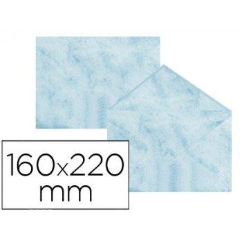 Sobre fantasia marmoleado azul 160x220 mm 90 gr paquete de 25