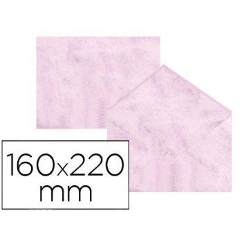 Sobre fantasia marmoleado rosa 160x220 mm 90 gr paquete de 25