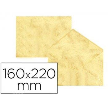 Sobre fantasia marmoleado amarillo 160x220 mm 90 gr paquete de 25